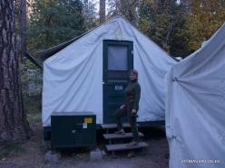 Josemičio nacionalinis parkas. Josemičio slėnis. Camp Curry. Mūsų palapinė