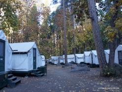 Josemičio nacionalinis parkas. Josemičio slėnis. Camp Curry