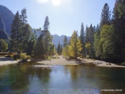 Josemičio nacionalinis parkas. Josemičio slėnis. Merced upė