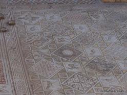 Jerash. Greco-Romanian city of Gearsa. Cosmas and Damian Church. Mosaic