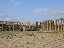 Jerash. Greco-Romanian city of Gearsa. Oval Forum (2)