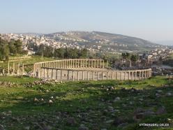 Jerash. Greco-Romanian city of Gearsa. Oval Forum (6)