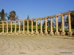 Jerash. Greco-Romanian city of Gearsa. Oval Forum