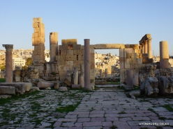 Jerash. Greco-Romanian city of Gearsa. The Church of the Propylaea