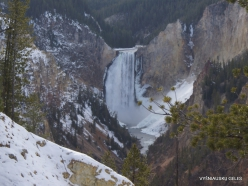 Jeloustono nacionalinis parkas. The Grand Canyon of the Yellowstone. Jeloustouno krioklys (2)