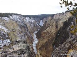 Jeloustono nacionalinis parkas. The Grand Canyon of the Yellowstone. Jeloustouno krioklys (3)