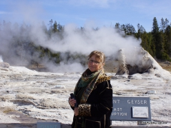 Jeloustono nacionalinis parkas. Upper Geyser Basin. Giant Geyser