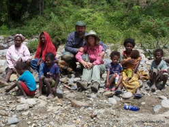 West Papua. Arfak Mountains. Hingk . With Papuan peoples